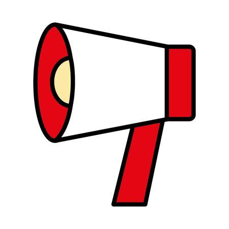 megaphone loudspeaker announcement icon vector illustration design Фото со стока - 129834129