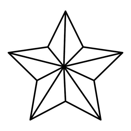 award star decorative isolated icon vector illustration design