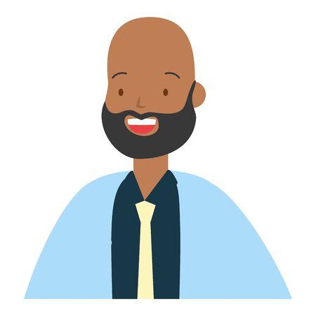 man portrait character on white background vector illustration Reklamní fotografie - 129834198