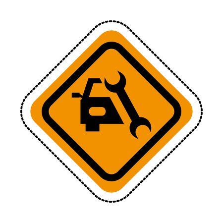 auto repair service isolated icon vector illustration design Иллюстрация