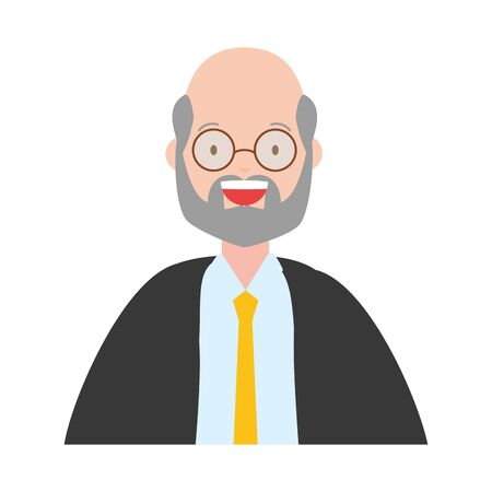man portrait character on white background vector illustration Reklamní fotografie - 129834217