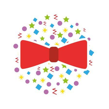 cute bow party icon vector illustration design Иллюстрация