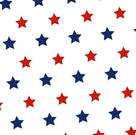 star with united states colors pattern vector illustration design