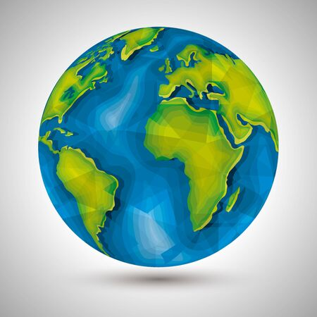 ecology planet conservation and environment protect vector illustration