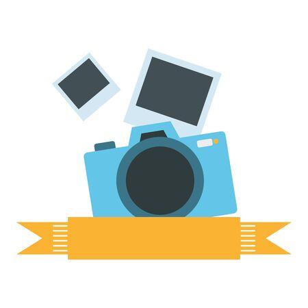 Diseño de ilustración de vector de icono aislado de cámara fotográfica