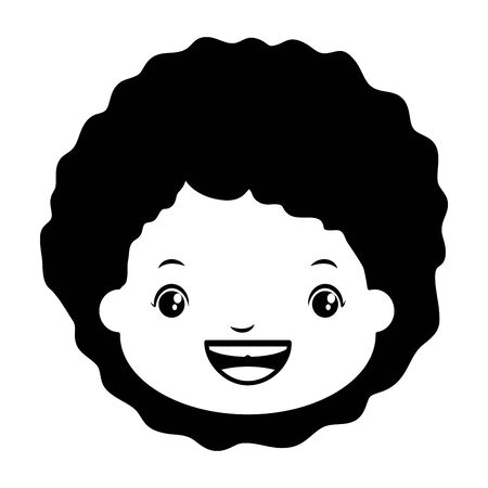 happy girl face smiling character vector illustration Banque d'images - 129834308