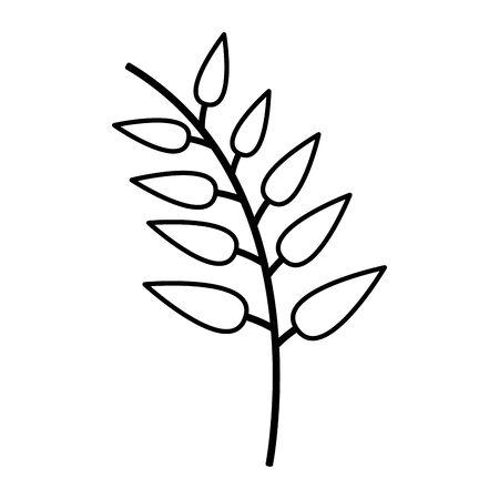 branch leaves nature icon white background vector illustration Ilustração