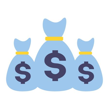 money bags currency savings design vector illustration  イラスト・ベクター素材