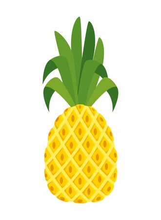 summer fresh fruit pineapple icon vector illustration design Illustration