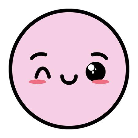 emoji cartoon face expression vector illustration