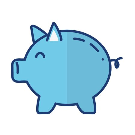 piggy bank saving on white background vector illustration