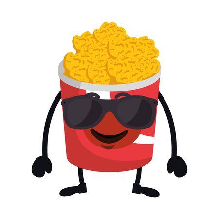 delicious nuggets chicken character vector illustration design Illustration