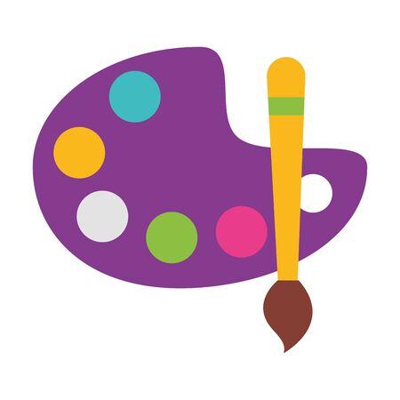 paletter color brush school supplies vector illustration design Illustration