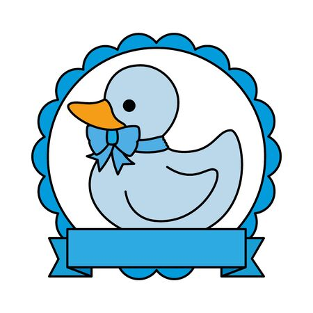little rubber duck toy icon vector illustration design