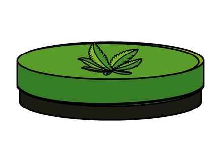 cannabis oinment natural product icon vector illustration design Ilustracja