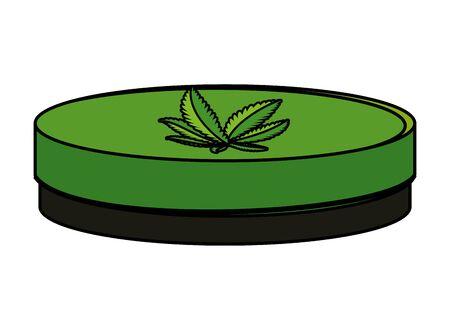 cannabis oinment natural product icon vector illustration design Illustration