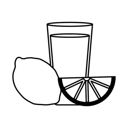 beverage shot with lemon drink vector illustration Illusztráció