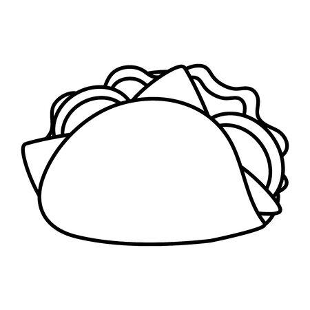taco fast food on white background vector illustration Illustration