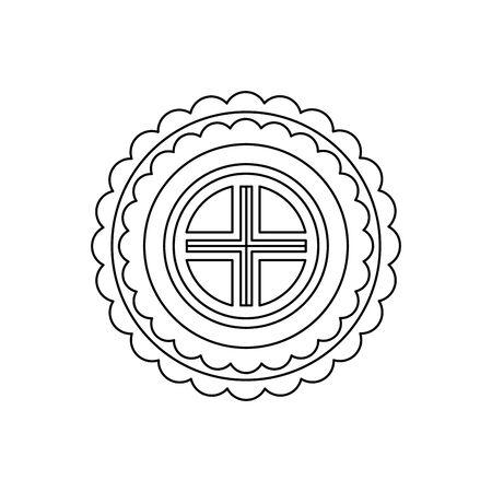 chinese mandala decorative isolated icon vector illustration design Illustration
