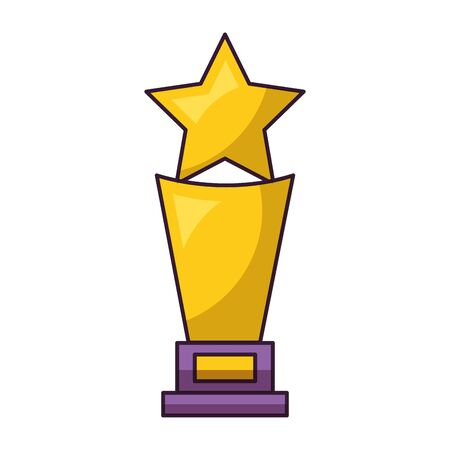trophy award star on white background vector illustration Ilustração