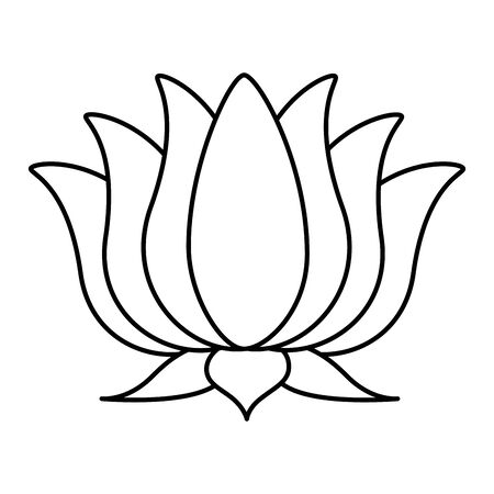 lotus flower indian isolated icon vector illustration design