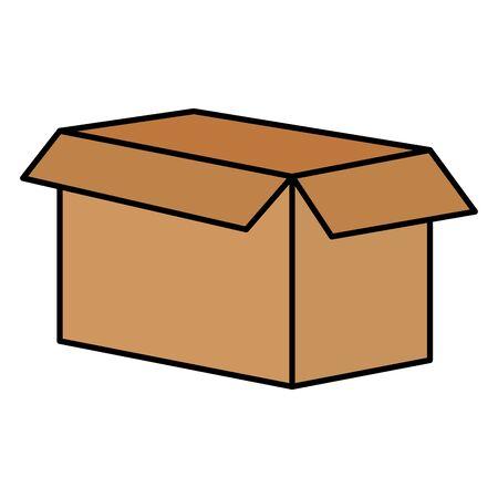 open cardboard box carton on white background vector illustration 版權商用圖片 - 129835042