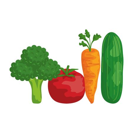 fresh vegetables healthy food vector illustration design