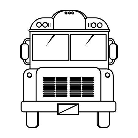 school bus transport isolated icon vector illustration design Ilustracja