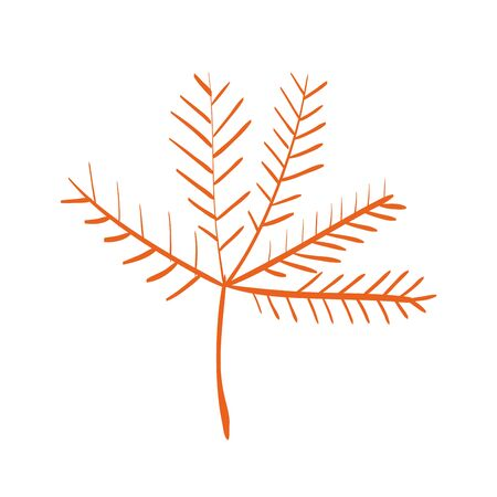 autumn dry branch season decoration vector illustration design