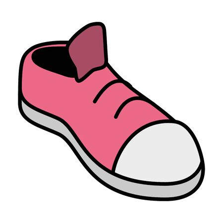 pink sneaker sport on white background vector illustration Çizim