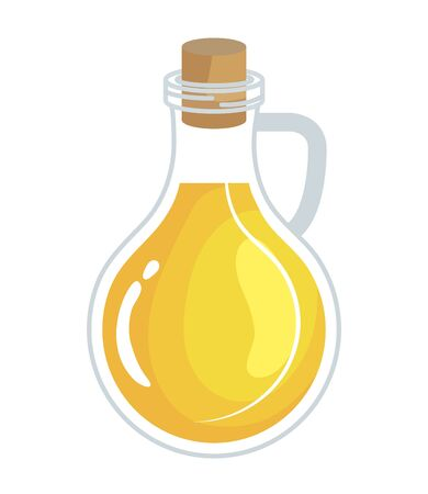 olive oil bottle healthy food vector illustration design