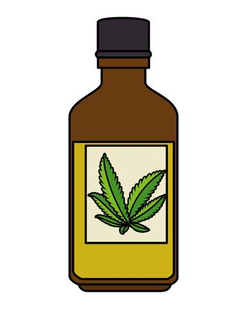 bottle with cannabis extract product vector illustration design 版權商用圖片 - 129361817