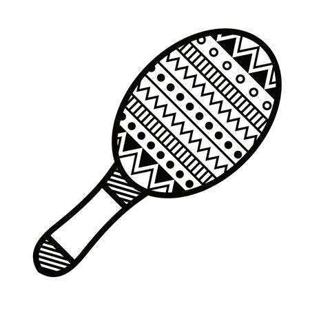 maracas tropical instrument isolated icon vector illustration design  イラスト・ベクター素材