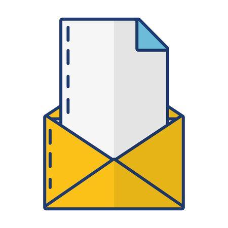 courrier papier lettre message sur fond blanc vector illustration Vecteurs