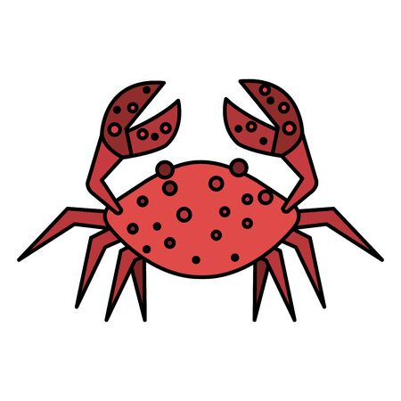 crab marine animal isolated icon vector illustration design Stock fotó - 129361907