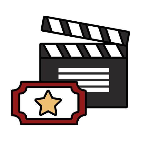 Ensemble d'objets de film design d'illustration vectorielle icône