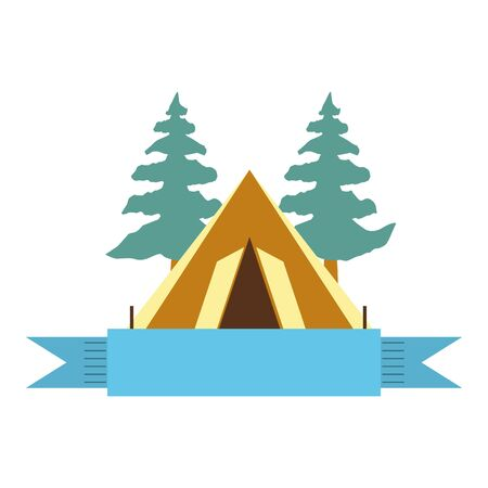 camping tent isolated icon vector illustration design  イラスト・ベクター素材