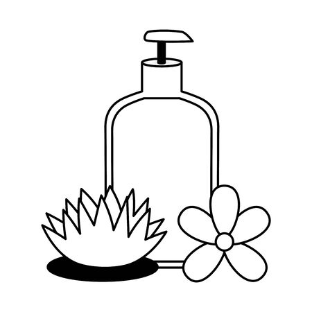 lotion dispenser flowers spa treatment therapy vector illustration 版權商用圖片 - 129273519