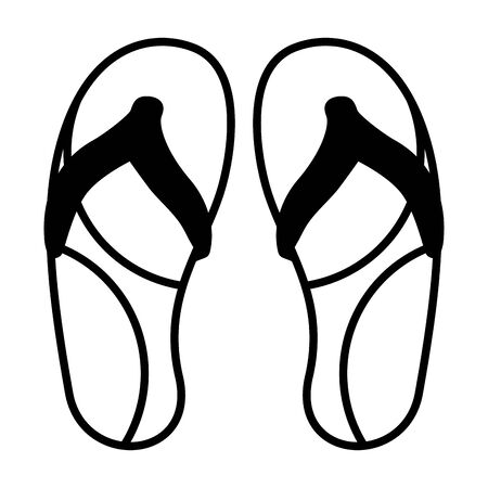 flip flops accessory on white background vector illustration