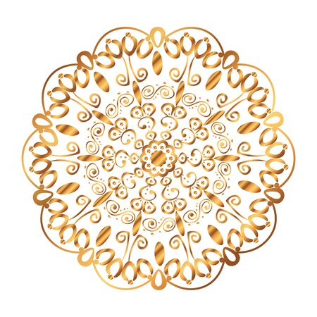 golden mandala victorian style vector illustartion design Çizim