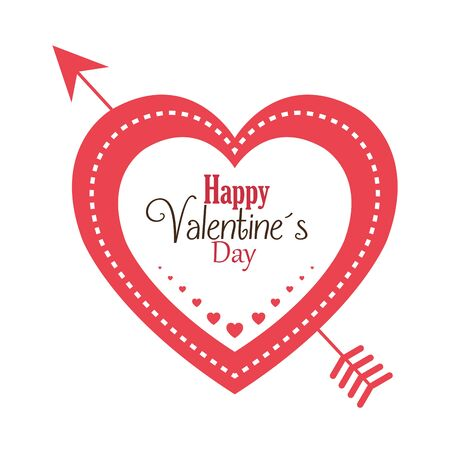 Happy Valentines Day Card design, vector illustration