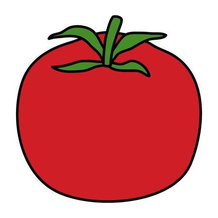 tomato fresh vegetable healthy icon vector illustration design 일러스트