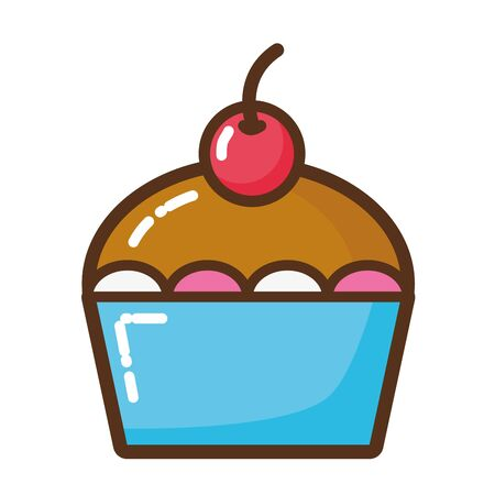 delicious cake isolated icon vector illustration design