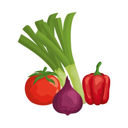 fresh vegetables nature icons vector illustration design Иллюстрация