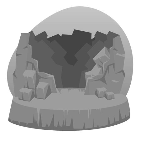 medieval stone sculpture and myth art over white background, vector illustration