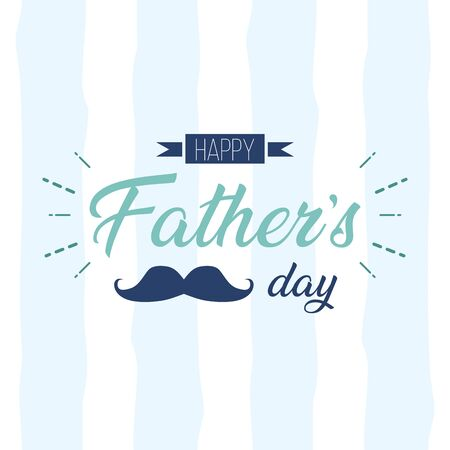 shirt necktie card happy fathers day vector illustration Stockfoto - 129309853