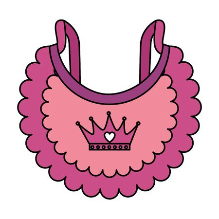cute baby bib clothes icon vector illustration design