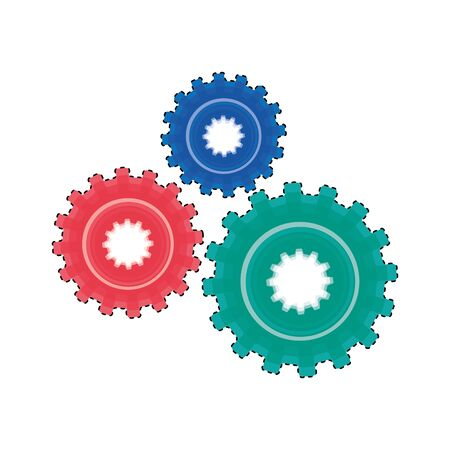 gears machine isolated icon vector illustration design Banco de Imagens - 129314282