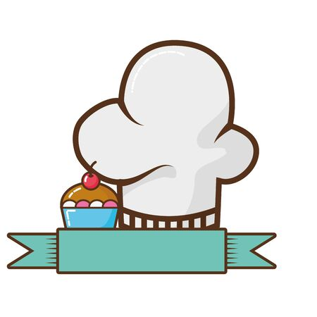 chef hat isolated icon vector illustration design Banque d'images - 129314671