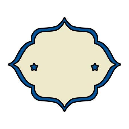 elegant frame with stars decoration vector illustration design